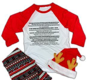 Christmas Vacation Movie Quote 3/4 Sleeve Soft Raglan Tee