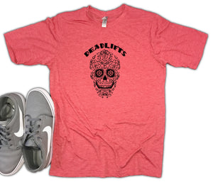 Deadlifts Sugar Skull Unisex Soft Blend Workout Shirt