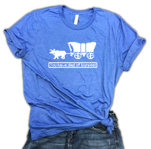 You Have Died of Burpees Oregon Trail Unisex Relaxed Fit Soft Blend Shirt