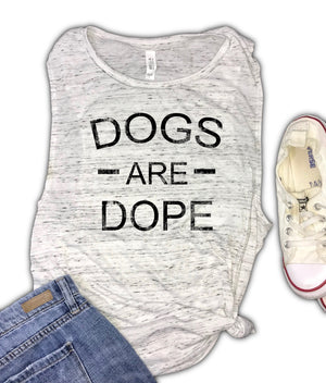 Dogs Are Dope Women's Muscle Tank