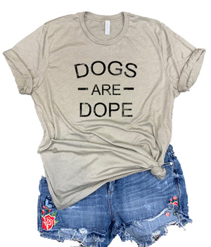 Dogs Are Dope Unisex Relaxed Fit Soft Blend Tee