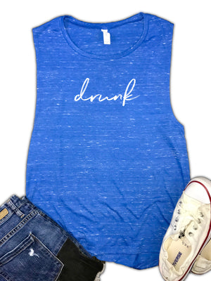 Drunk Funny Women's Muscle Tank