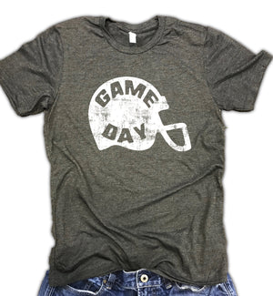 Game Day Football Helmet Unisex Soft Blend Tee