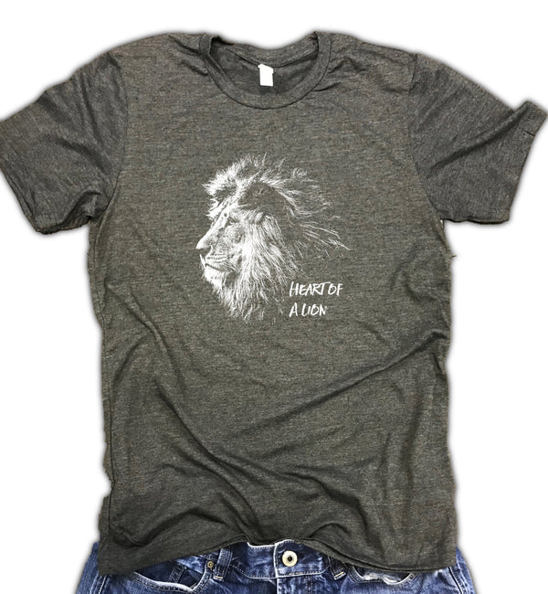 Heart of a Lion Unisex Relaxed Fit Soft Blend Tee