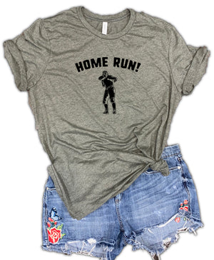 Home Run Football Unisex Relaxed Fit Soft Blend Tee
