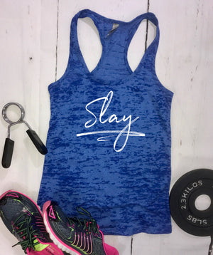 slay, workout top, tank tops for women, racerback tank, burnout tank, stylish tank, beach tank, womens top, workout tank, fitness tank