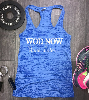 WOD Now Wine Later workout tank, funny workout tank, gym tank, funny wine tank, wine tank, gym tank womens, fitness tank, killing it