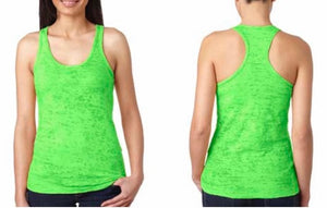 Keep Calm and WOD On Women's Burnout Racerback Tank
