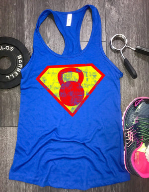 superhero workout tank, kettlebell workout tank, womens workout tank, workout tank womens, workout clothing, womens workout clothing