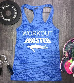workout wasted, funny workout tank, womens workout tank, gym tank, women's gym tank, gym tank top, workout tank top, fitness