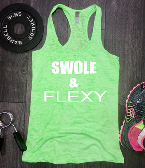 swole and flexy workout tank, funny workout tank, workout burnout tank, swole and flexy, swole tank, gym tank, beach tank, gym tank, fit