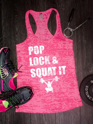 pop lock and squat it gym tank, Workout Tank, Fitness Tank, fitnessMotivation, Yoga Top, Running tank, Funny Workout Tank, Womens Clothes