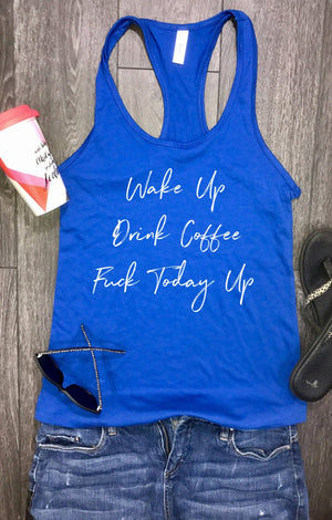 tank tops for women, wake up drink coffee, racerback tank, womens tank top, workout clothes for women, stylish tank, yoga clothes, tank top
