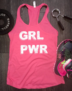 Girl power workout tank, workout tanks for women, womens workout tank, gym tank, best workout tank, beach tank, positive vibes, racerback