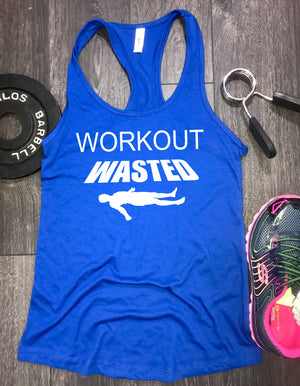 workout wasted workout tank, workout tank tops with funny sayings, gym tank, funny workout tank, womens lifting tank, workout tank top