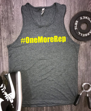one more rep mens workout tank, workout motivation, mens workout tank, workout tank top, mens gym tank, best workout tank, mens gym clothing