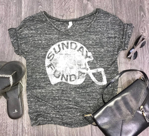 Sunday Funday football womens slouchy t-shirt, womens tailgate shirt, tailgate shirt for women, womens sports shirt, team mom shirt
