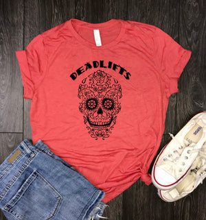 deadlift, fitness gifts, deadlift skull, fitness shirt, gym tshirt, work out, work out shirts, fitness apparel, running tshirt, cross traini