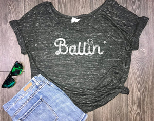 women's ballin shirt, baseball mom shirts, baseball mom shirt, baseball shirts, baseball t shirt, gameday shirt, women's baseball shirt