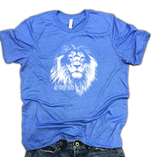 No Sheep Here Lion Soft Blend Unisex Tee