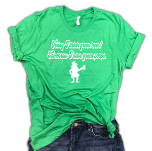 Today I drink green beer Unisex Leprechaun tee, st patricks day shirt women, day drinkin, st patricks day shirt for women, lucky shirt