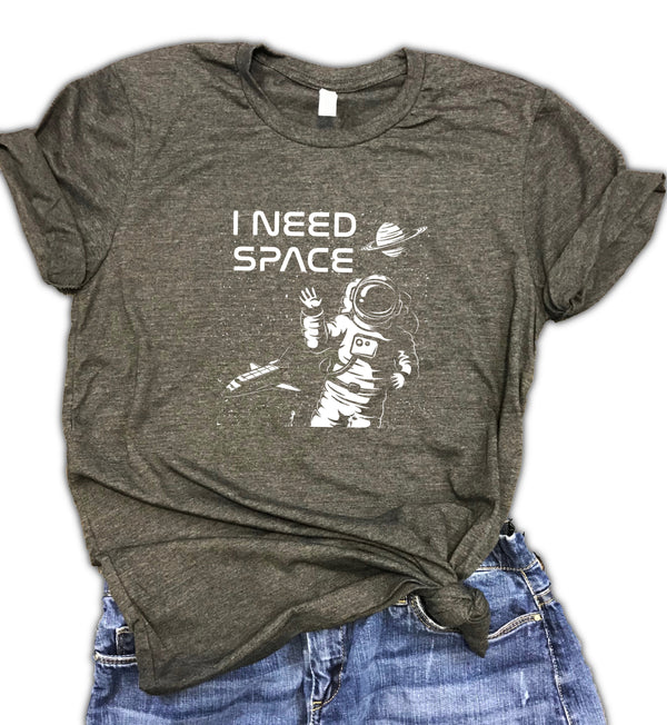 I Need Space Unisex Relaxed Fit Soft blend Tee