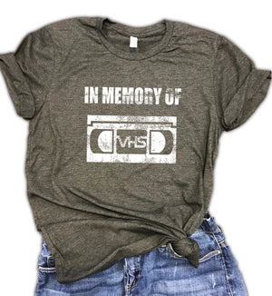 In Memory of VHS Unisex Relaxed Fit Soft blend Tee