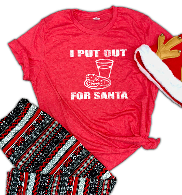 I Put Out For Santa Unisex Relaxed Fit Soft Blend Te