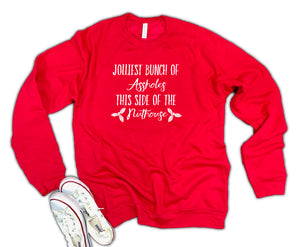 Jolliest Bunch of Assholes Unisex 50/50 Soft blend Fleece Sweatshirt