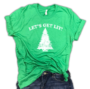 Let's Get Lit Unisex Relaxed Fit Soft Blend Tee