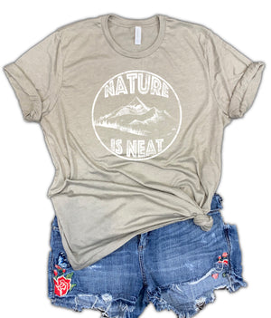 Nature is Neat Unisex Relaxed Fit Soft Blend Tee