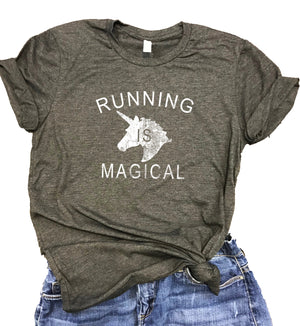 Running is Magical Unisex Relaxed Fit Soft Blend Tee