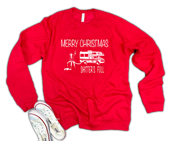 Shitters Full Christmas Vacation Unisex 50/50 Soft blend Fleece Sweatshirt