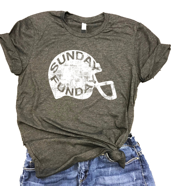 Sunday Funday Football Unisex Relaxed Fit Soft Blend Tee