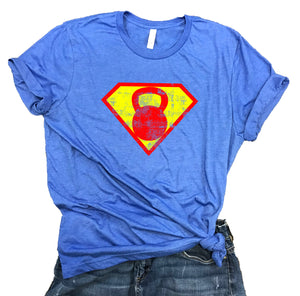 Superhero Kettlebell Unisex Relaxed Fit Soft Blend Tee