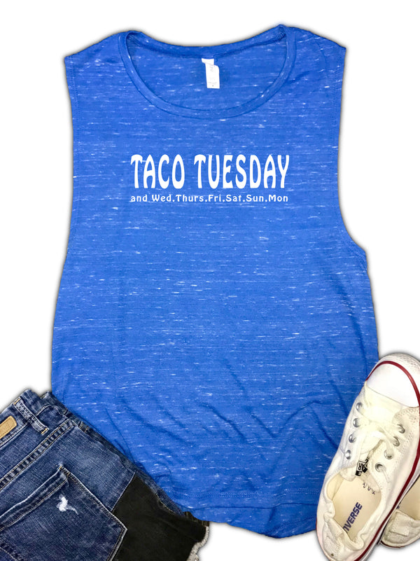 Taco Tuesday Women's Foodie Muscle Tank
