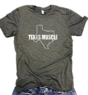 Texas Muscle Unisex Relaxed Fit Soft Blend Tee