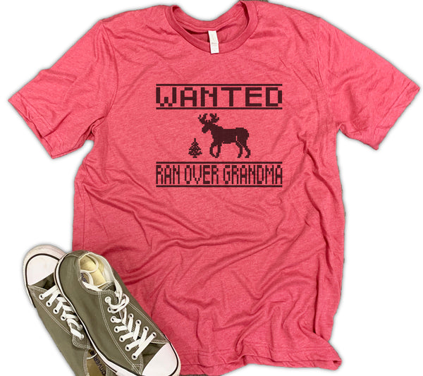 Wanted Reindeer Unisex Relaxed Fit Soft Blend Te