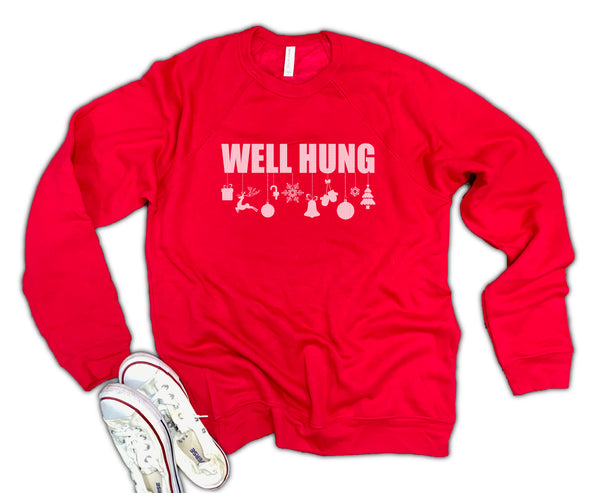 Well Hung Unisex 50/50 Soft blend Fleece Sweatshirt