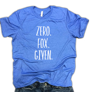 Zero Fox Given Unisex Soft Blend Shirt