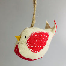 Load image into Gallery viewer, Hanging Bird Ornament - Reds