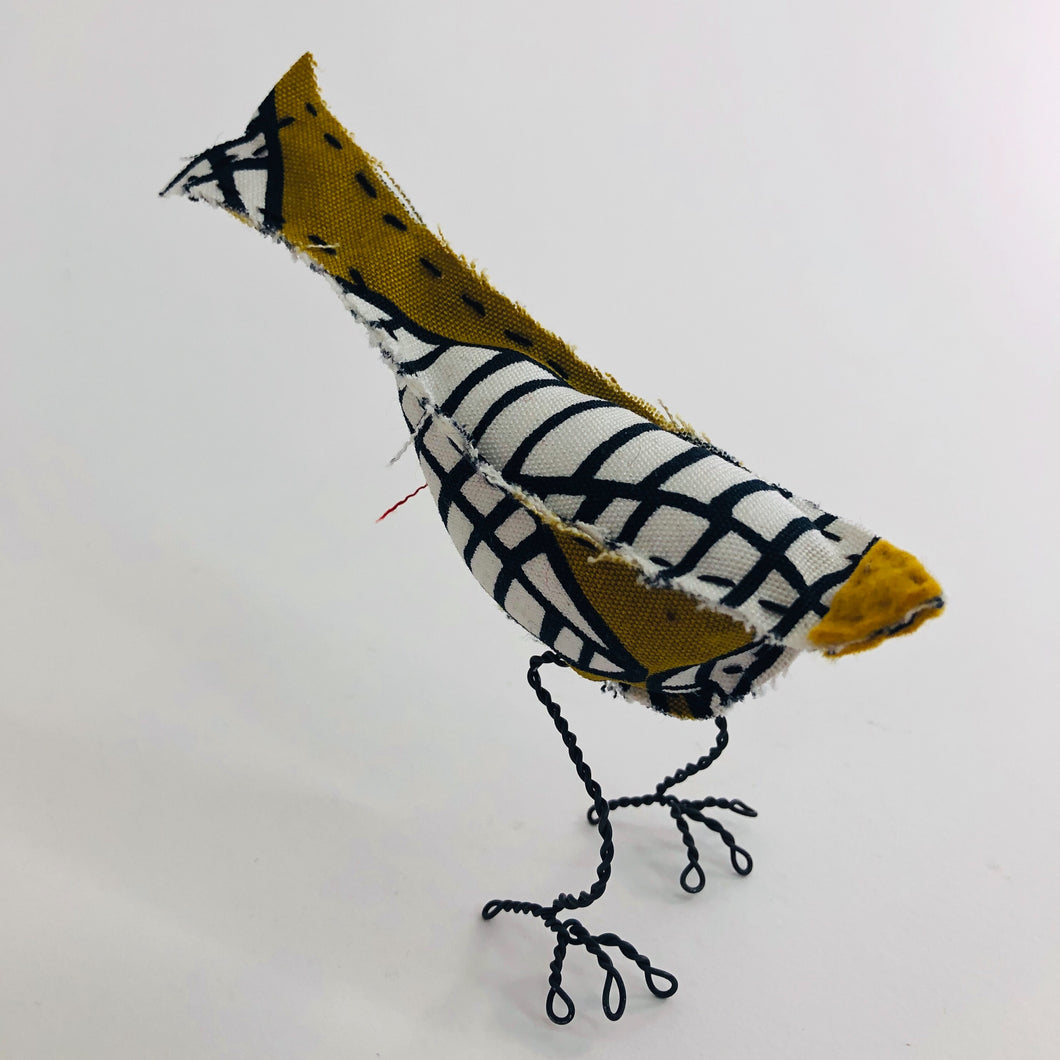 Bird with Wire Legs - Gold IKEA Print