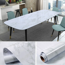 Load image into Gallery viewer, White and Grey Waterproof Marble Vinyl Self Adhesive Wallpaper