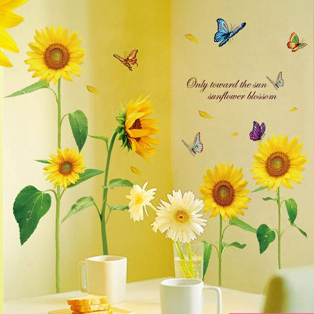 Sunflower Removable Wall Stickers - 100 x 110 cm