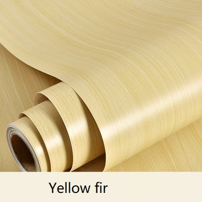 Yellow Wood Effect Wallpaper - 1M/2M