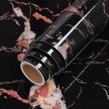 Black and Pink Waterproof Self Adhesive Marble Wallpaper