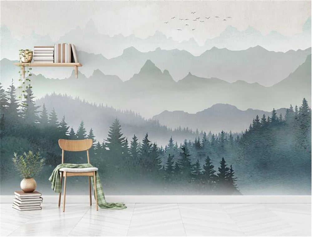 Mountain Peak Forest Wall Mural