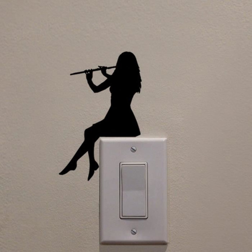 Silhouette Light Switch Wall Sticker