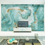 Blue European Style Abstract Marble Photo Wall Mural