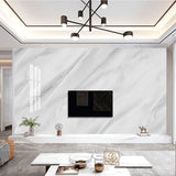 Jazz White 3D Marble Wall Mural